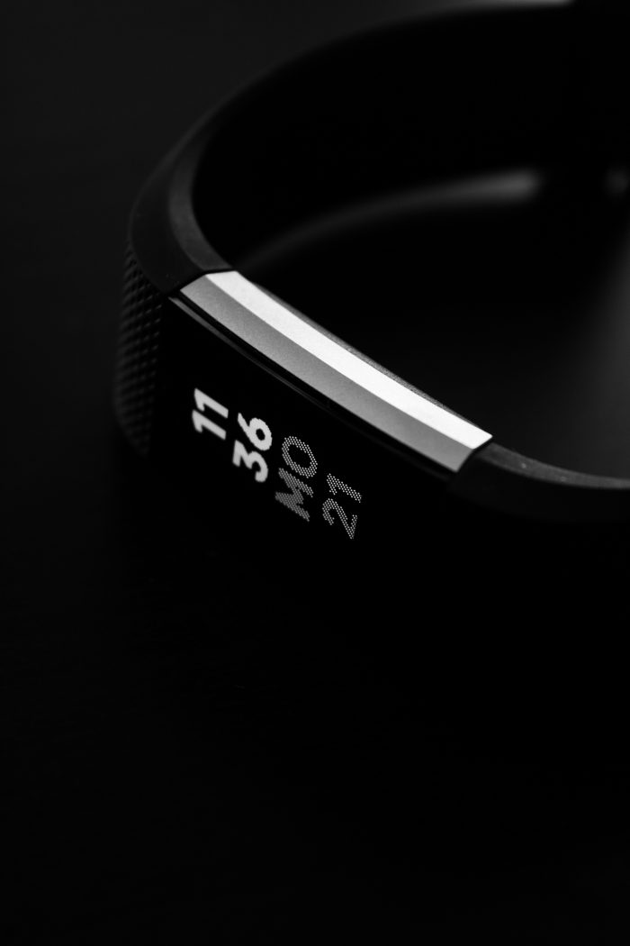 Black Fitbit tracker